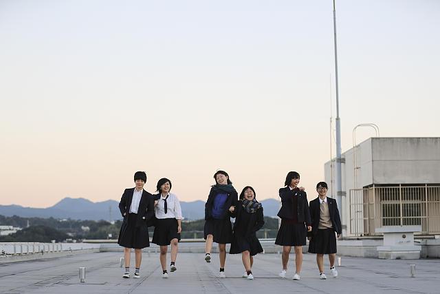 和歌山県立神島(かしま)高等学校屋上にて